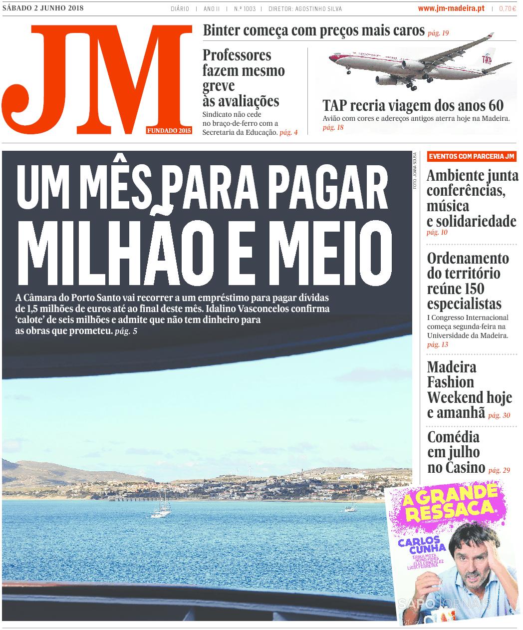 Jornal da Madeira (2 jun 2018) - Jornais e Revistas - SAPO 24