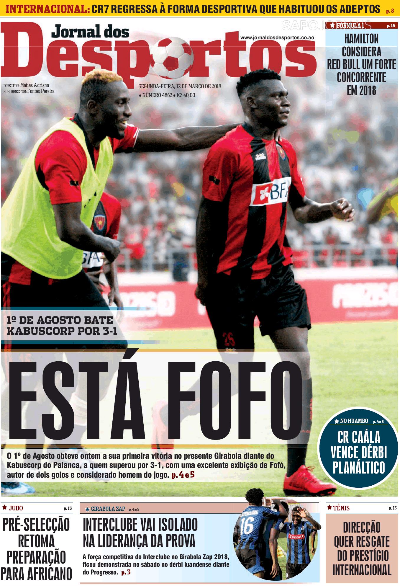jornal dos desportos  12 mar 2018  - jornais e revistas
