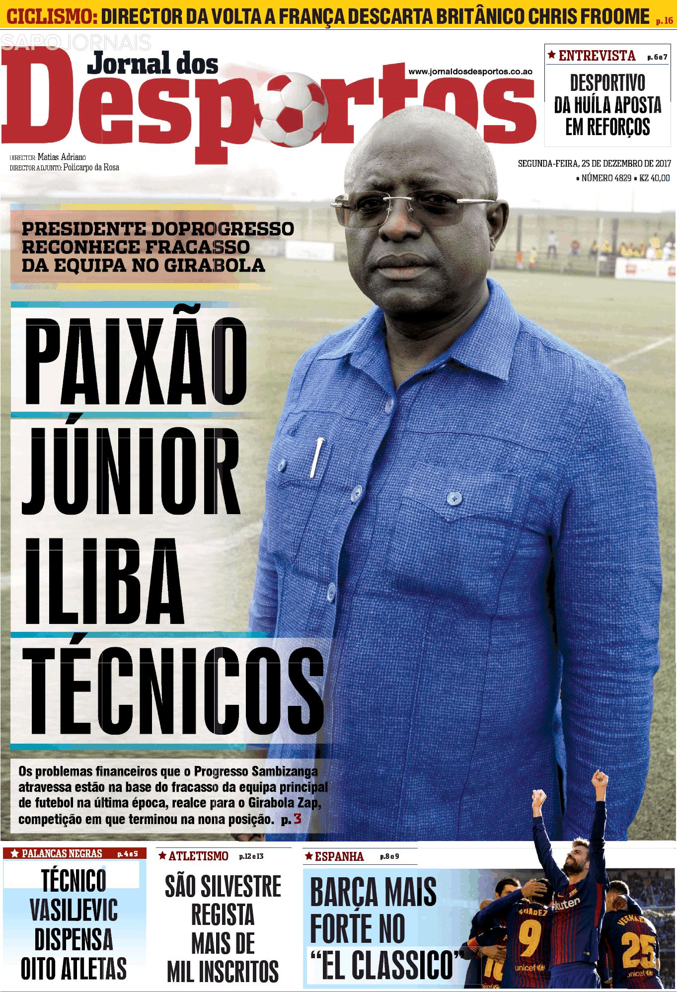 jornal dos desportos  25 dez 2017  - jornais e revistas