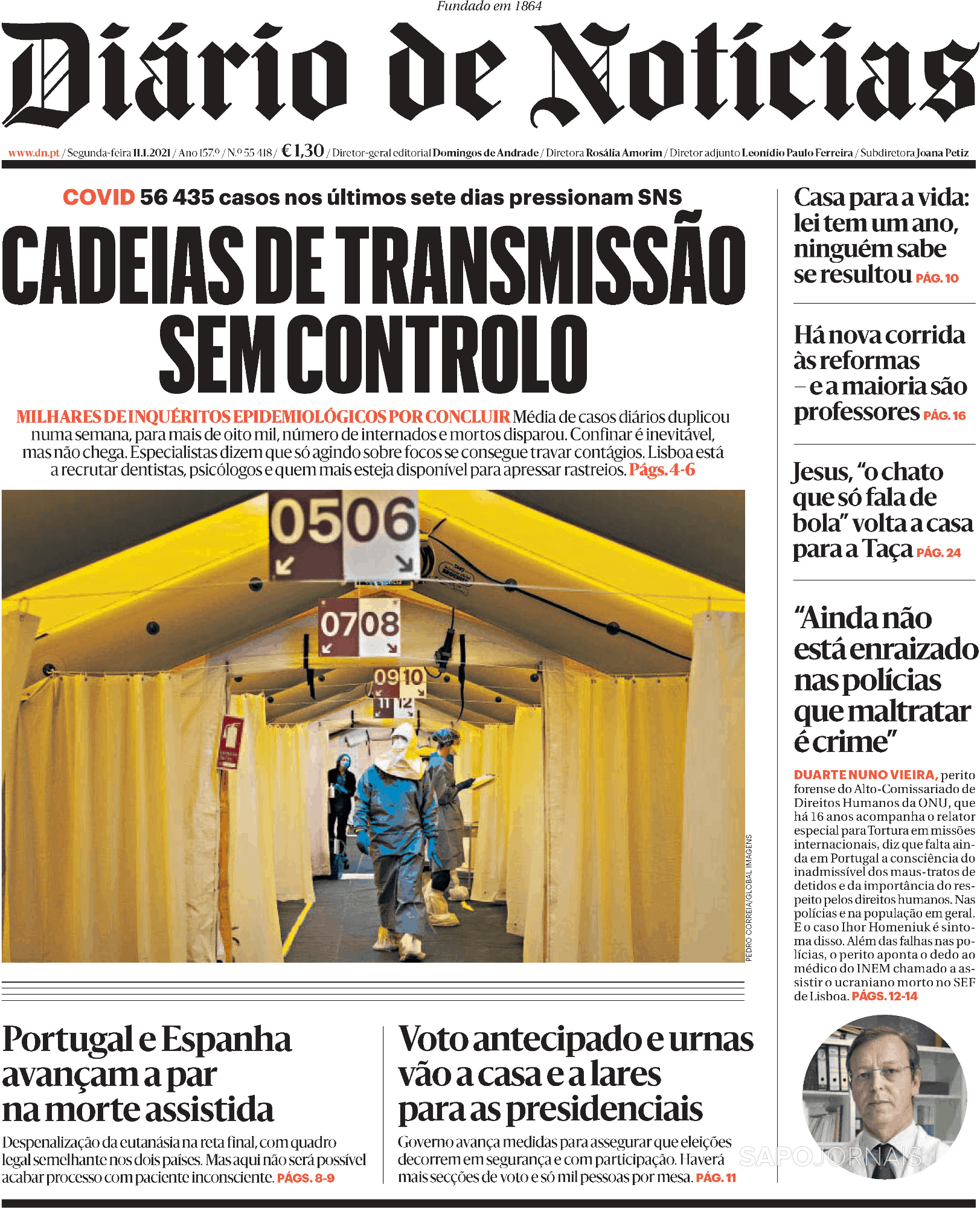 Diário de Notícias (11 jan 2021) - Jornais e Revistas ...